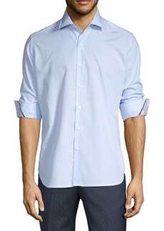 Zanella Lodi Hairline Stripe Cotton Sportshirt