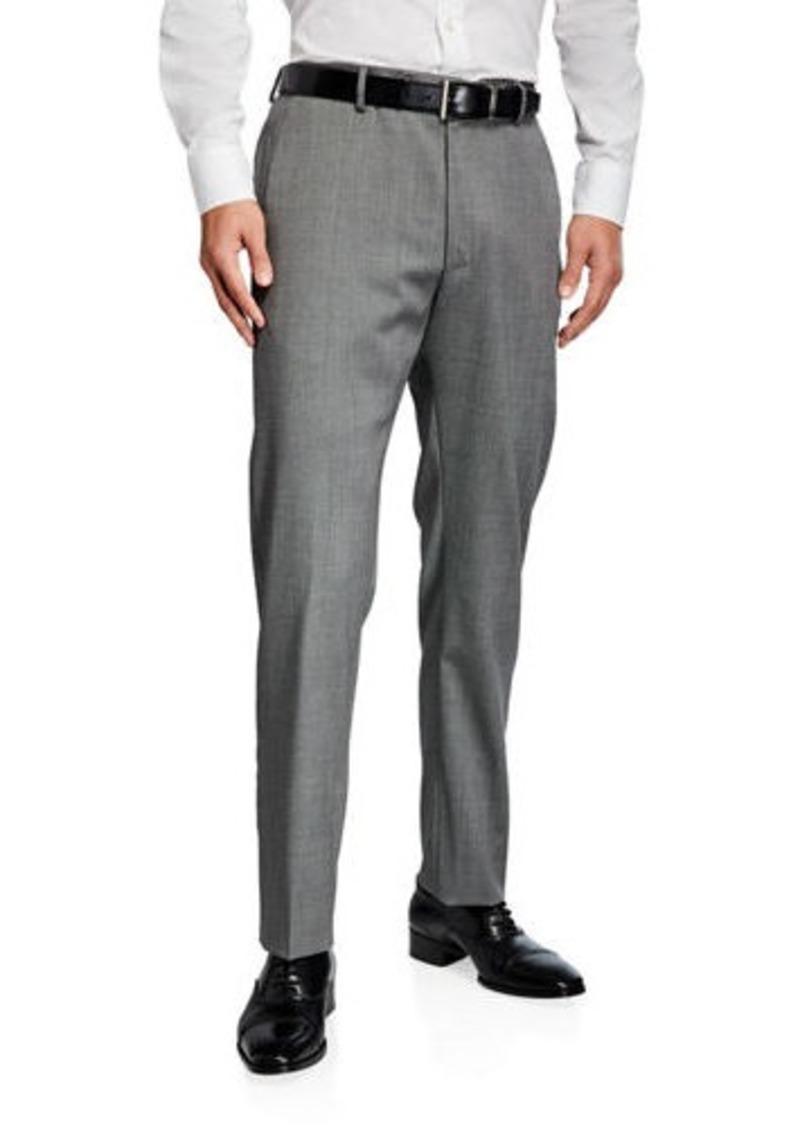 Zanella Men's Covert Stretch Twill Dress Trousers