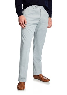 Zanella Men's Garment-Dyed Stretch-Poplin Pants