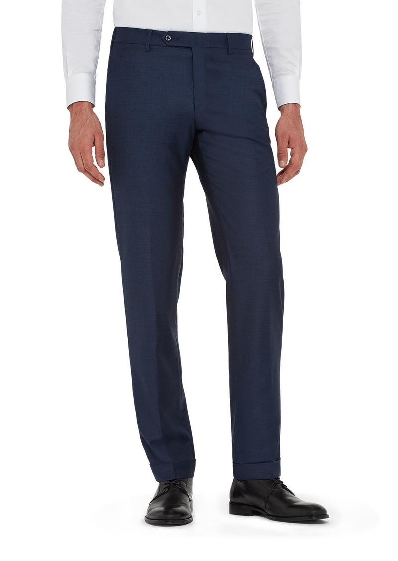 Zanella Men's Parker Classic Flat-Front Trousers