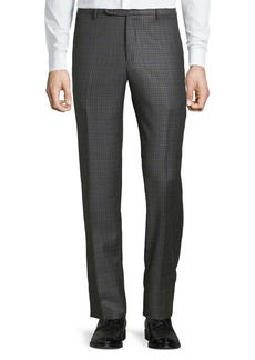 Zanella Men's Parker District Check Flat-Front Trousers