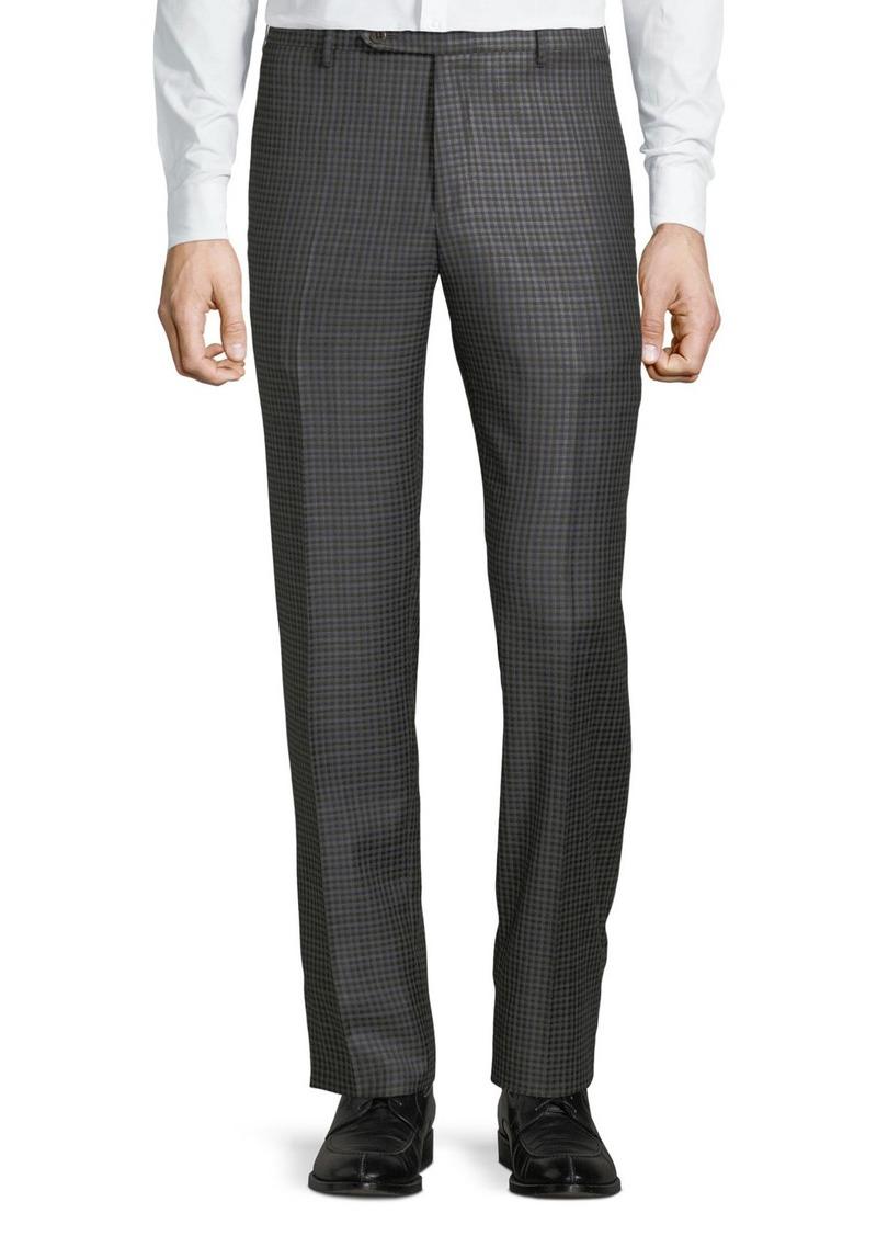 Zanella Men's Parker District Check Flat-Front Trousers