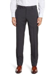 Zanella Parker Flat Front Plaid Wool Dress Pants