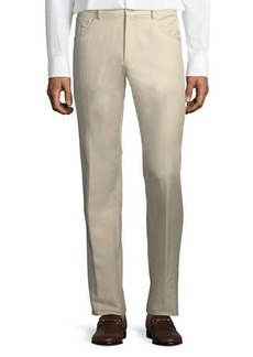 Zanella Rasolino Cotton-Linen Pants