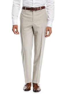 Zanella Wool/Silk Broken-Check Trousers