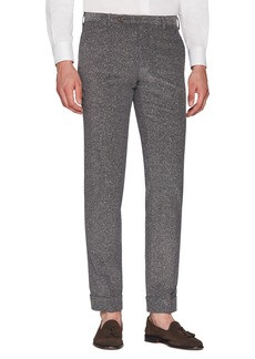 Zanella Curtis Flat Front Herringbone Cotton Trousers