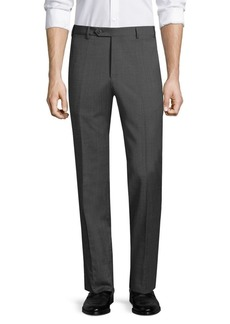 Zanella Devon Slim-Fit Wool Flat-Front Pants