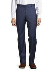 Zanella Devon Window-Pane Woolen Pants