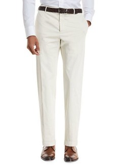 Zanella Garment-Dyed Stretch-Poplin Pants
