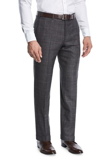 Zanella Grid-Checked Wool Trousers