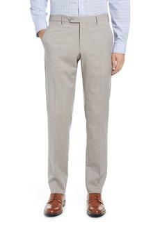 Zanella Men's Flat Front Wool Trousers