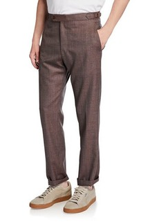 Zanella Men's Seasonal Sharkskin Straight-Leg Pants