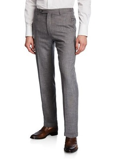 Zanella Men's Slub Weave Dress Trousers