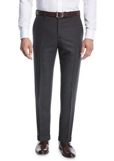 Zanella Micro-Jacquard Super 130's Wool Trousers