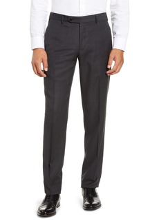 Zanella Parker Flat Front Houndstooth Wool Trousers
