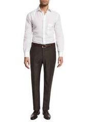 Zanella Parker Flat-Front Super 130's Flannel Trousers
