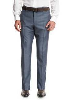 Zanella Super 130s Wool Sharkskin Trousers