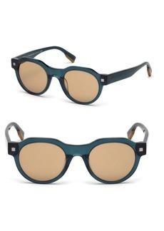 Zegna 48mm Round Sunglasses