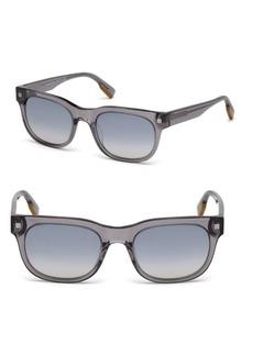 Zegna 53MM Square Mirrored Sunglasses