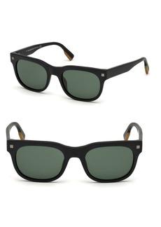 Zegna 53MM Square Sunglasses