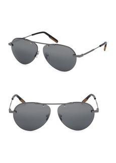 Ermenegildo Zegna 61MM Metal Round Sunglasses
