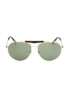 Zegna 61MM Metal Round Sunglasses