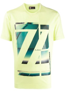 Zegna abstract logo-print T-shirt