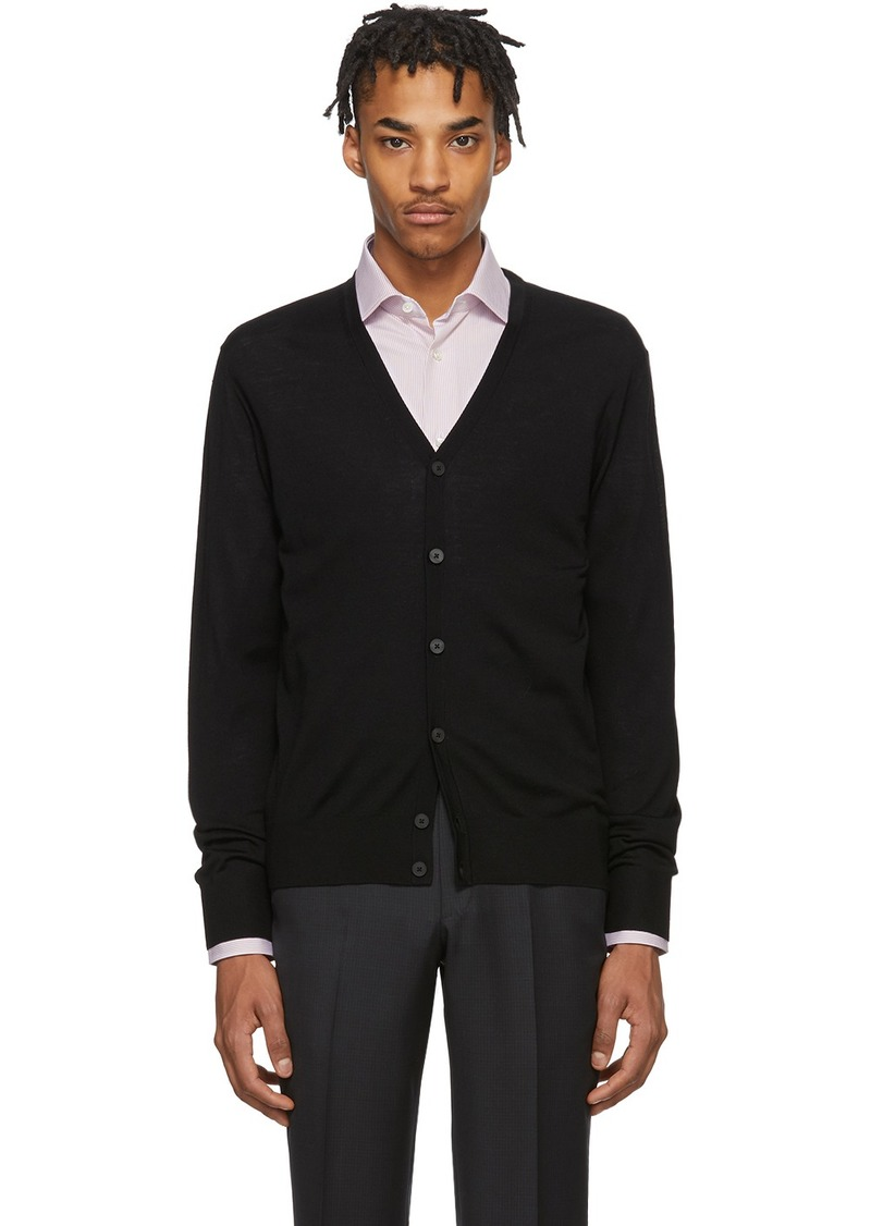 Zegna Black Knit Cardigan