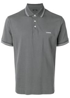 Zegna chest logo polo shirt