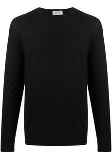 Zegna crew neck fine-knit jumper