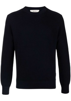 Zegna crewneck waffle-knit jumper