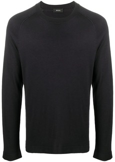 Zegna fine knit round neck jumper