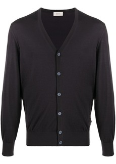 Zegna fine-knit v-neck cardigan