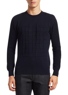 Zegna French Terry Embroidered Sweater