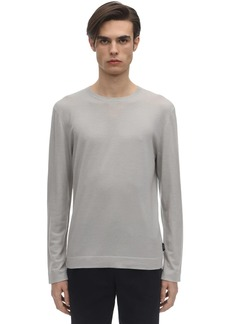 Zegna Frosted Effect Wool Knit Sweater