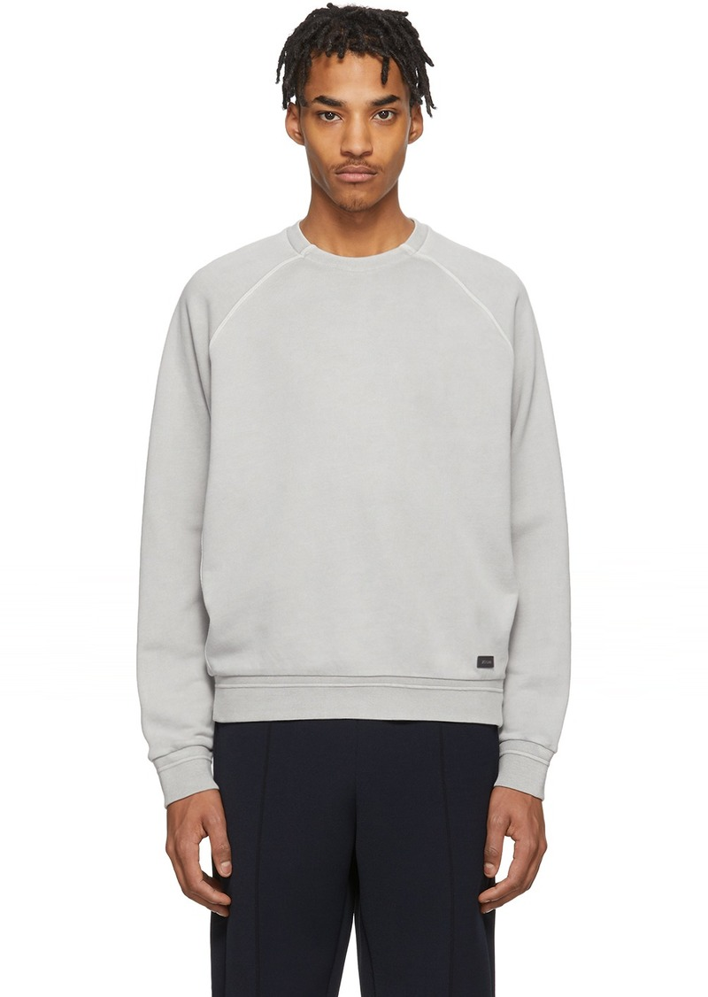 Zegna Grey Garment Dyed Sweatshirt