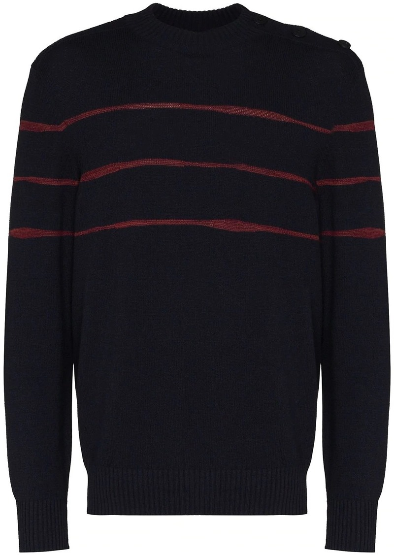 Zegna knitted stripe jumper