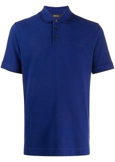 Zegna logo-embroidered polo shirt