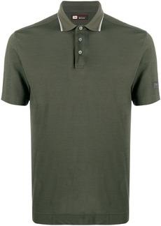 Zegna logo patch cotton polo shirt
