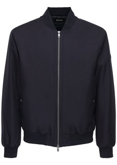 Zegna Logo Patch Tech Bomber Jacket