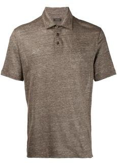 Zegna melange knit polo T-shirt