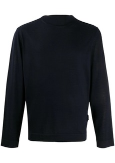 Zegna mock neck wool jumper