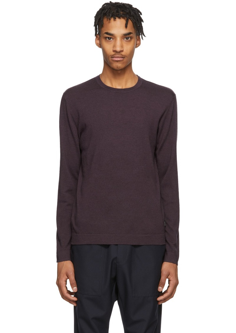 Zegna Purple Knit Crewneck Sweater