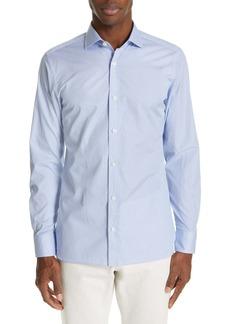 Zegna Raindrop Extra Slim Fit Print Sport Shirt