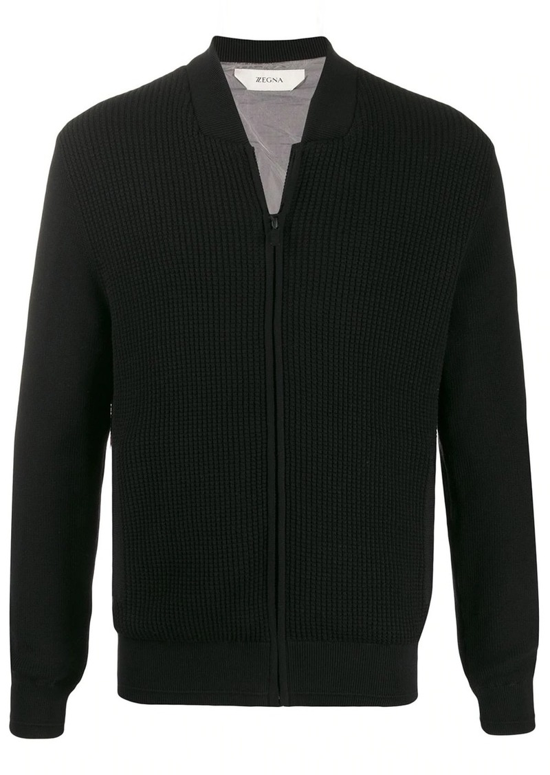 Zegna regular-fit zip-up cardigan