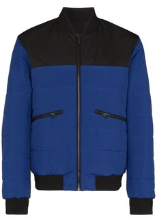 Zegna reversible quilted bomber jacket