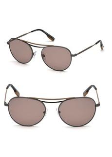 Zegna Shiny 54MM Aviator Sunglasses