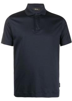 Zegna short sleeve stretch polo shirt