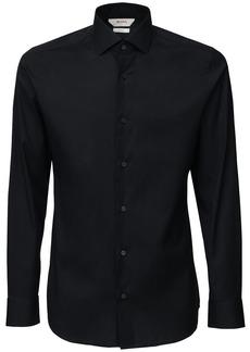 Zegna Slim Fit Stretch Cotton Poplin Shirt