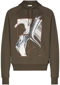 Zegna slogan-print cotton hoodie
